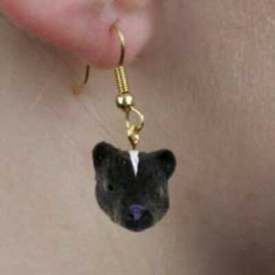 Animal Earrings SKUNK Dangle Head Earrings CLEARANCE SALE