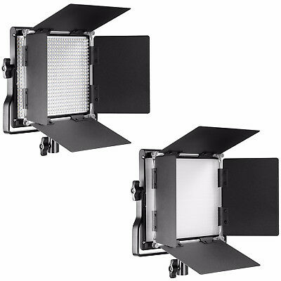 Neewer 2 PacksProfessional Metal Bi-color Dimmable 660 LED Video Light Panel