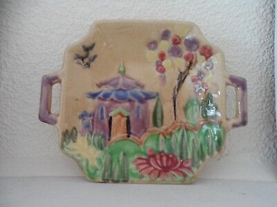 Vintage ORIENTAL style/ Pagoda  PIN DISH by Shorter and son, Stoke On Trent
