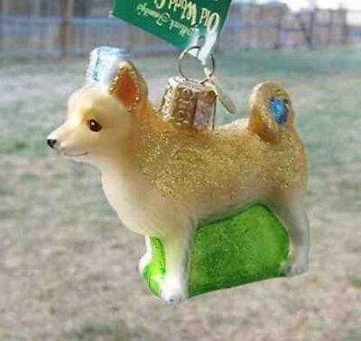 Old World Christmas CHIHUAHUA Blown Glass Tree Ornament CLEARANCE