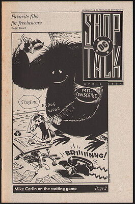 Dick Giordano Collection Copy ~ DC Comics Shop Talk Mike Carlin April 1994