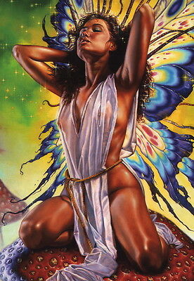 Fred Fields SIGNED TSR AD&D Fantasy Art Print Butterfly Chick ~ Dragon Magazine