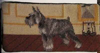 NP check SCHNAUZER Needlepoint Checkbook Cover CLEARANCE SALE