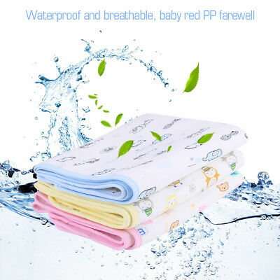Waterproof Changing Diaper Pad Cotton Washable Baby Urine Mat Nappy Bed 50x70cm