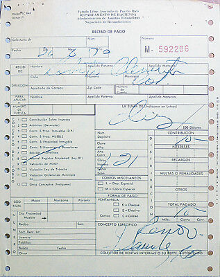 1970 -Roberto Clemente- Vintage Baseball Puerto Rico Document - from His Estate!