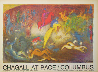 Marc Chagall - Chagall At Pace/Columbus - im Druck signiert