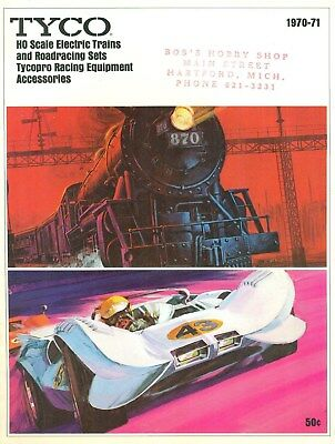 1970 1971 TYCO HO Scale Electric Trains And Roadracing Catalog Slot Cars Clean