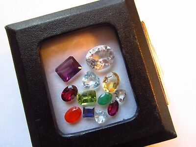 Natural Mixed Faceted Loose Gemstone Parcel Lot Colombian Emerald Morganite