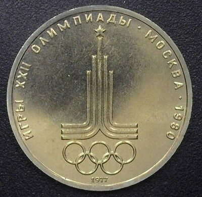 Russia 1977 Rouble -1980 Olympics- Gem Uncirculated Y#144