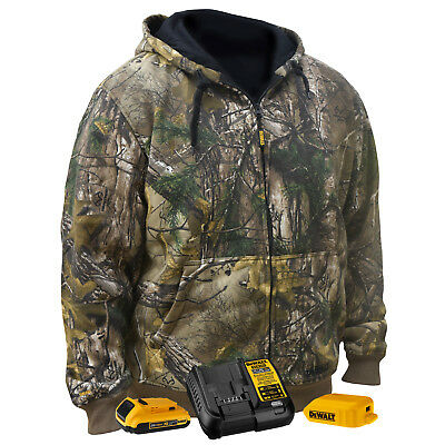 DeWALT DCHJ074D1 20V Realtree XTRA Camouflage Heated Hoodie, X-Large