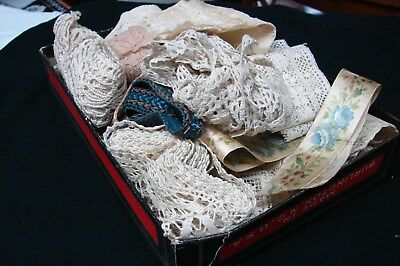 Large Lot Antique Victorian & Early 1900S Lace Trim Edging Tatting