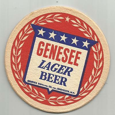 """1940's Genesee Lager Beer Coaster- Genesee -Rochester, NY 4"""" """"War Coaster"""" #047"""