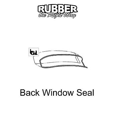 1955 1956 Ford & Mercury Back Window Seal - with Groove for Trim