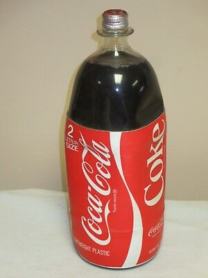 Very Rare Coca Cola 2 Liter Plastic Bottle With Foam Label Never Opened