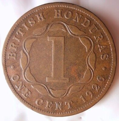 1926 BRITISH HONDURAS CENT - VERY RARE Low Mintage Coin - Lot #D13