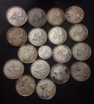 Old Canada Coin Lot - 18 Quality SILVER COINS - Lot #D13