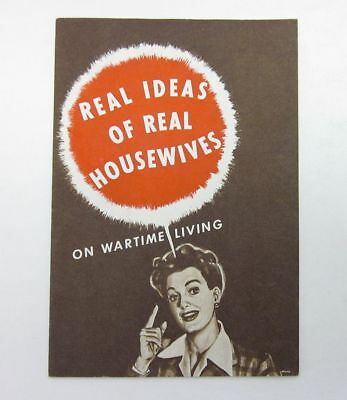 WWII-era Advertising Booklet Mott's US Home Front Real Housewives Ideas bv2782
