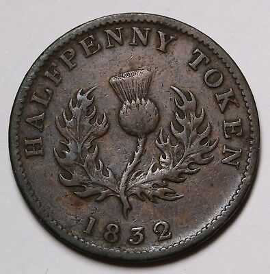 1832 Canada Nova Scotia Halfpenny William IV Token