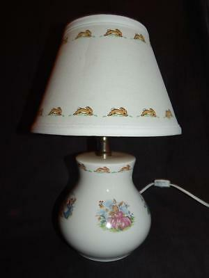 ROYAL DOULTON BUNNYKINS Childrens Ceramic Electric Lamp with Shade
