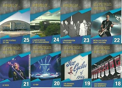 2015 Quebec Videotron Center History Complete Set 25 Cards W/metallica
