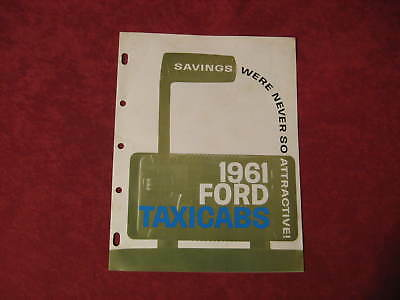 1961 Ford Taxi Cab booklet Dealership Brochure Old Original FOMOCO Vintage