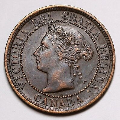 1888 Canada 1 Cent Queen Victoria Coin KM# 7