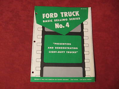 1962 Ford Pickup Truck booklet Dealership Brochure Old Original FOMOCO Vintage