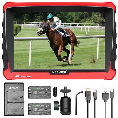 "Neewer NW-A7S 7"" 4K 1920x1200 Camera Field Monitor with 2 batteries and Charger"