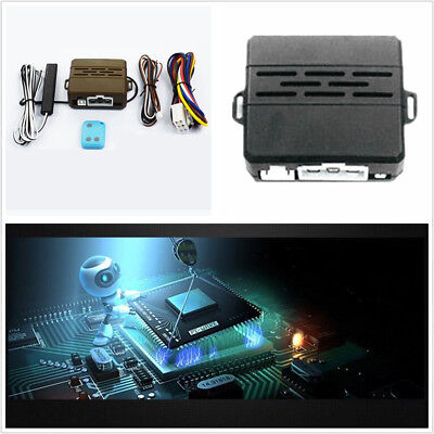 Car Alarm System Induction Remote Control Engine Start Push Remote Kit Horn Tips