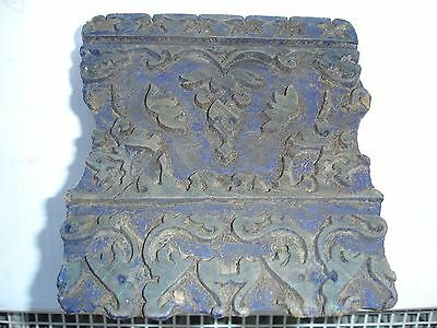 Antique Wooden HAND PRINTING BLOCK for Wallpaper Fabric Cloth