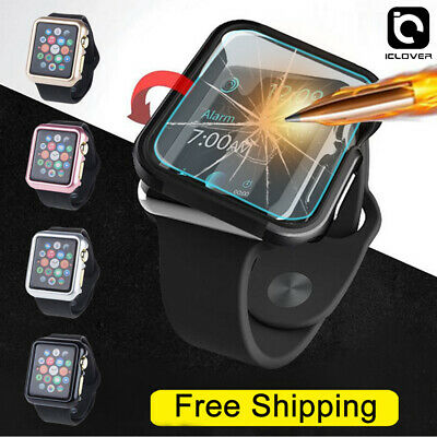 Apple Watch Series 5/4/3/2/1 44/42mm Snap On Bumper Case Cover+Screen Protector