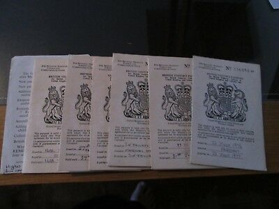6 X Old One Year Visitors Passports