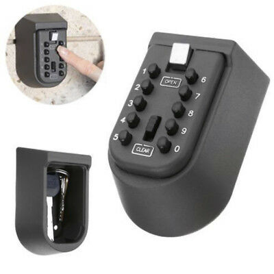 Home Key Storage Lock Box Button Lockbox Number Numeric Key Security Wall Mount