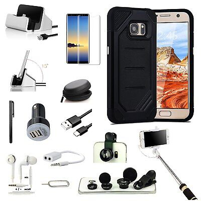Black Advanced Dual Layer Case Cover Fish Eye Monopod For Samsung Galaxy Note 8