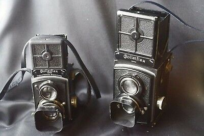 Rolleiflex Baby black italian soft leather strap, or Old Rollei Standard