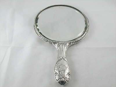 Edwardian Sterling Silver Joshua Reynolds Hand Held Mirror Dated 1904