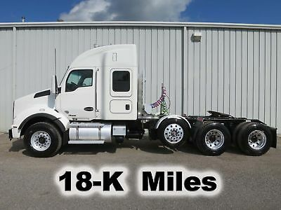 Kw T880 485-Hp 13Spd Tandem Lift Tri Axle Heavy Spec Truck 18-K Low Miles