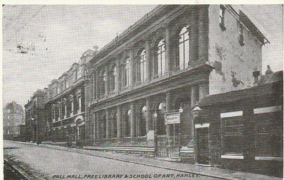 Postcard Pall Mall Free Library Stoke on Trent Hanley Published By Brampton
