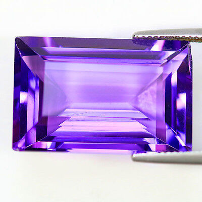 27.74cts Intense Purple Amethyst From Brazil. 100% Flawless Best Color! Best Cut