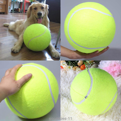Big Giant Pet Dog Puppy Tennis Ball Thrower Chucker Launcher Play Toy Balls 9.5""