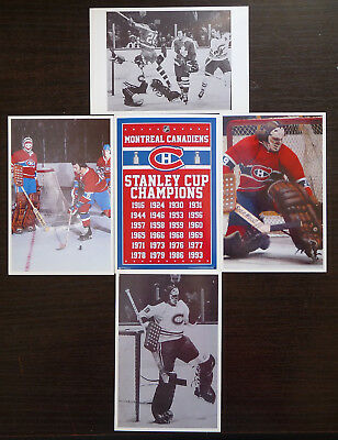Lot Of 4 Nhl  Hockey Photo Color  Finish Clear Glossy Ken Dryden Golaie