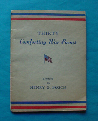 Wwii Homefront Booklet Thirty Comforting War Poems 1944