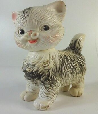 Vtg Cat Kitten 1960 Squeeze Toy Edward Mobley Co. Arrow Rubber Corp. Head Turns