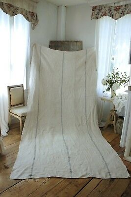Antique bed slip cover upholstery fabric cart blue hemp cart cover harvest cloth