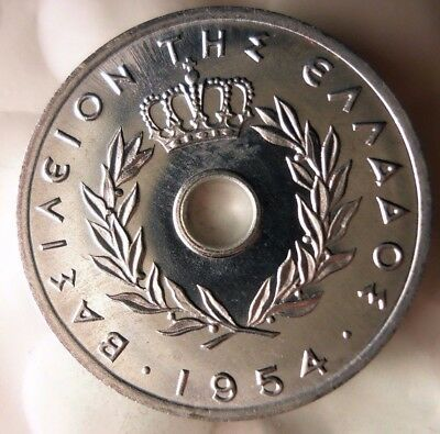 1954 GREECE 5 LEPTA - AU - Excellent Collectible Coin - FREE SHIPPING - BIN #GGG