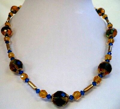 """Stunning Vintage Estate High End Glass Beaded 18"""" Necklace!!! G6651T"""