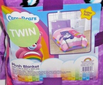 Care Bears Rainbow Day Twin Blanket new  Int'L Welcome