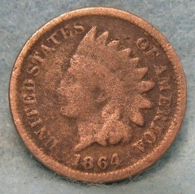 1864 CN Indian Head Penny * Circulated Coin #1613