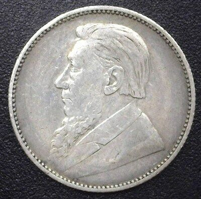 South Africa 1896-Z.a.r. Silver Shilling  Choice Extremely Fine  Km#5