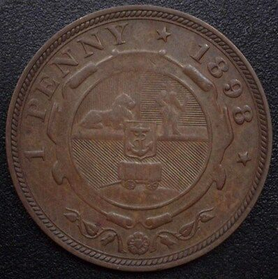 South Africa 1898 Penny  Nearly Uncirculated  Km#2